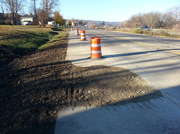 200,000 gallons of water spilled when a line along Route 434 split late Saturday. BOB JOSEPH/WNBF News