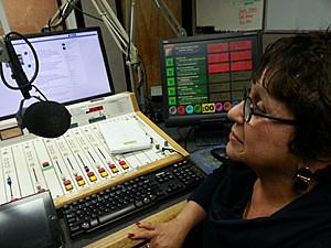 "Barbara Fiala in the ""Binghamton Now"" studio on Wednesday morning. BOB JOSEPH/WNBF NEWS"
