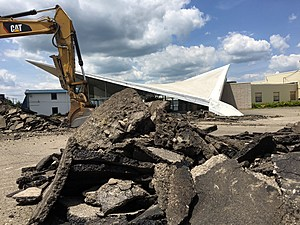 The Ken Wilson Chevrolet showroom was demolished to clear the way for the project. [Bob Joseph/WNBF News]