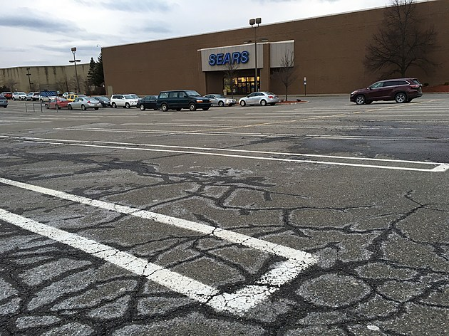 A parking lot on the east side of the Sears store at the Oakdale Mall. [Bob Joseph/WNBF News]