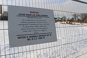 Signs warn that unauthorized people are not allowed on the Main Street site. (Photo: Bob Joseph/WNBF News)