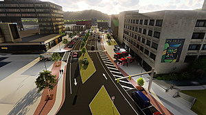 A rendering of the State Street Gateway Project provide by Binghamton City Hall.