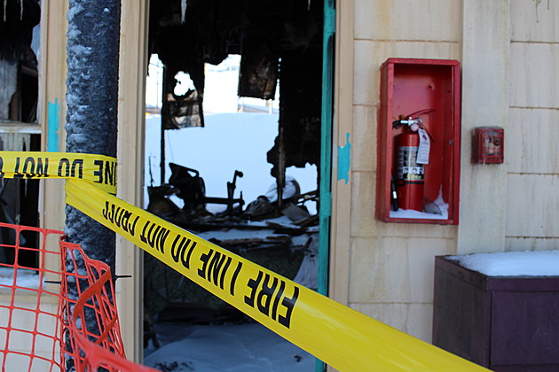 A fire extinguisher was just a few feet from where the blaze apparently started. (Photo: Bob Joseph/WNBF News)