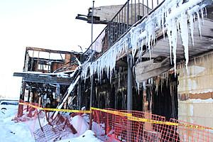 The intense blaze spread past a fire wall in the motel. (Photo: Bob Joseph/WNBF News)