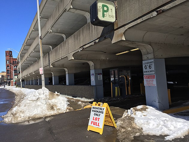 Only those with monthly parking permits were able to use a city-owned garage. (Photo: Bob Joseph/WNBF News)