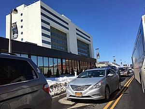 Traffic moved slowly on downtown Binghamton streets on Friday afternoon. (Photo: Bob Joseph/WNBF News)