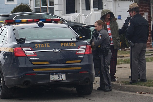 State police took Belven Fajardo into custody after an Endwell incident on March 3, 2017. (Photo: Bob Joseph/WNBF News)