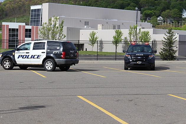 Johnson City police vehicles at the Walmart store parking lot on May 8, 2017. (Photo: Bob Joseph/WNBF News)