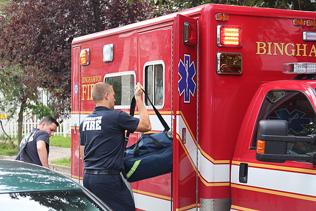 Binghamton fire medics prepare to assist patients following suspected drug overdoses. (Photo: Bob Joseph/WNBF News)