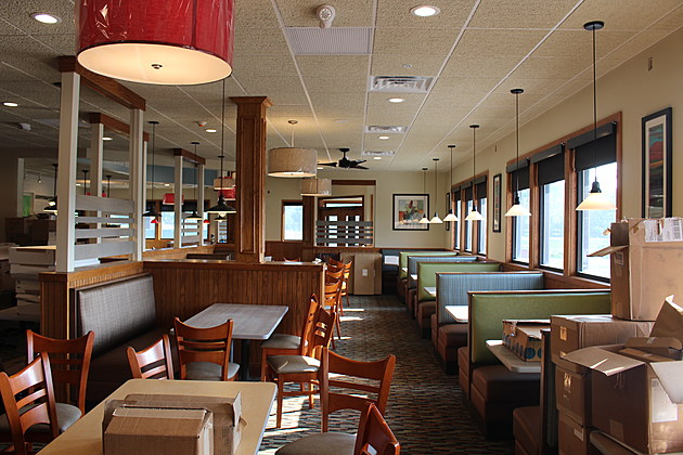 A view inside a dining area of the nearly-completed restaurant. (Photo: Bob Joseph/WNBF News)