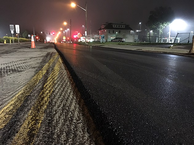 A quiet stretch of Main Street where one side has been resurfaced. (Photo: Bob Joseph/WNBF News)