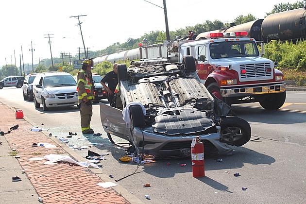Court Street was closed to westbound traffic following the crash. (Photo: Bob Joseph/WNBF News)