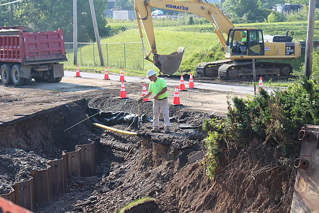 A flood wall project in the town of Union should be completed in several weeks. (Photo: Bob Joseph/WNBF News)