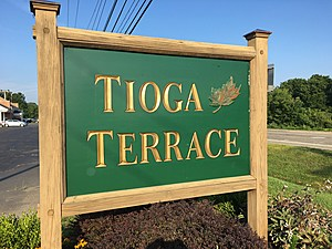 The Tioga Terrace neighborhood is located near the site of the proposed project. (Photo: Bob Joseph/WNBF News)