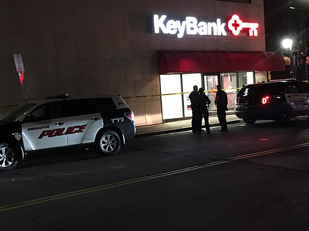 Police officers on State Street shortly before 5 a.m. August 11, 2017. (Photo: Bob Joseph/WNBF News)