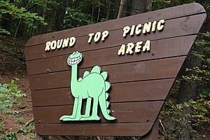 A sign at the park entrance in the village of Endicott. (Photo: Bob Joseph/WNBF News)