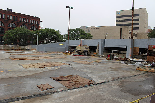 A section of the garage where restoration work is being done. (Photo: Bob Joseph/WNBF News)