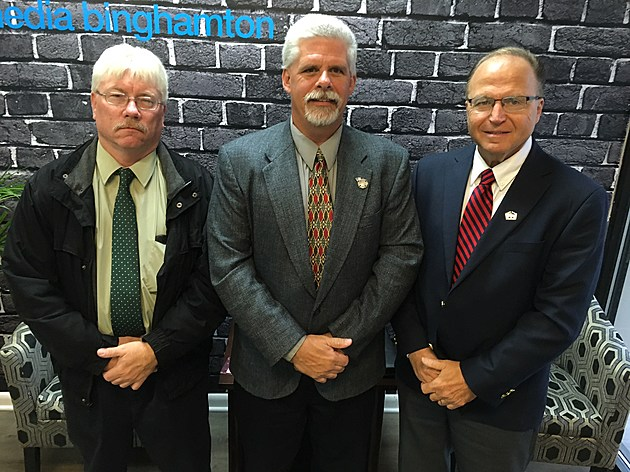 Johnson City mayoral candidates Greg Deemie, Martin Meaney and Richard Balles. (Photo: Bob Joseph/WNBF News)