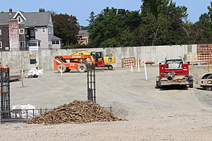 Concrete has been poured for the future underground parking area. (Photo: Bob Joseph/WNBF News)