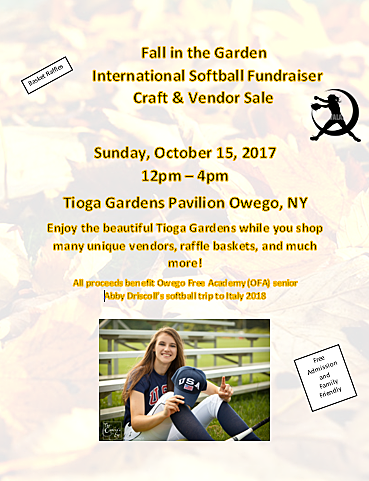 Fall In The Garden Fundraiser Craft U0026 Vendor Event To Benefit OFA Senior  Abby Driscollu0027s International Softball Trip To Italy 2018