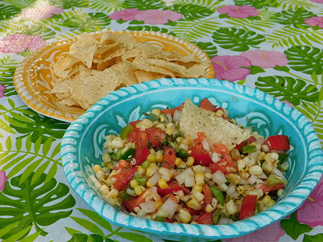grilled corn salsa Foodie Friday recipe