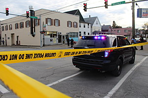Police tape closed Baldwin Street north of Grand Avenue. (Photo: Bob Joseph/WNBF News)