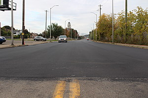 A newly-paved section of North Street west of Hayes Avenue. (Photo: Bob Joseph/WNBF News)