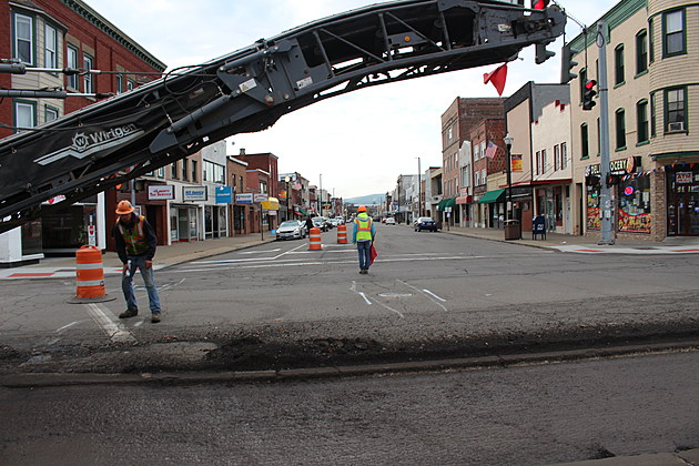 A view of Washington Avenue from the North Street work zone. (Photo: Bob Joseph/WNBF News)