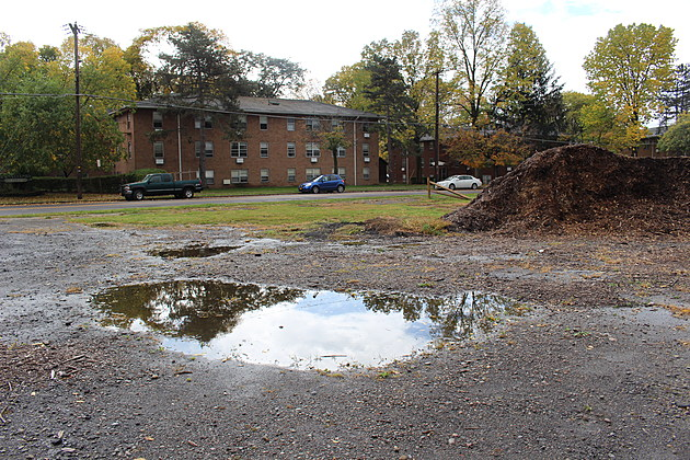 The site of the future Salvation Army center on Binghamton's North Side is located near the Town and Country Apartment Complex. (Photo: Bob Joseph/WNBF News)