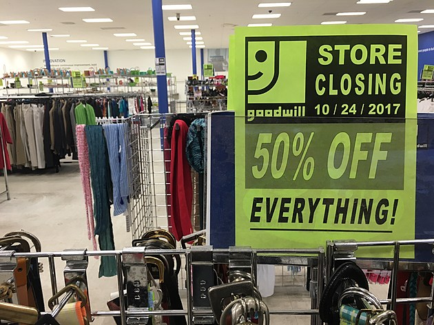 Price cuts are being promoted at the soon-to-close Binghamton Goodwill store. (Photo: Bob Joseph/WNBF News)