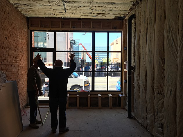 Preparations are underway at Laveggio Roasteria's new location at 178 State Street. (Photo: Bob Joseph/WNBF News)