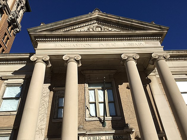 The Carnegie library building at 78 Exchange Street on November 8, 2017. (Photo: Bob Joseph/WNBF News)